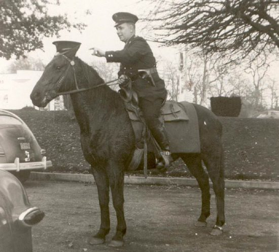 Ed Anderson on police horse